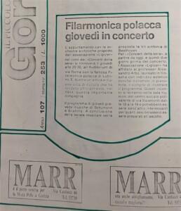 zdjęcie z gazety, koncert orkiestry symfonicznej filharmonii lubelskiej we włoszech