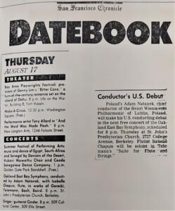 zdjęcie z gazety, koncert adama natanka w USA