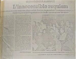 zdjęcie z gazety, koncert orkiestry filharmonii lubelskiej we francji