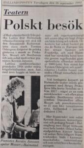 zdjęcie z gazety, orkiestra filharmonii lubelskiej w szwecji