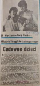 zdjęcie z gazety, koncert wadima repina i maksyma wengerowa w lubelskiej filharmonii