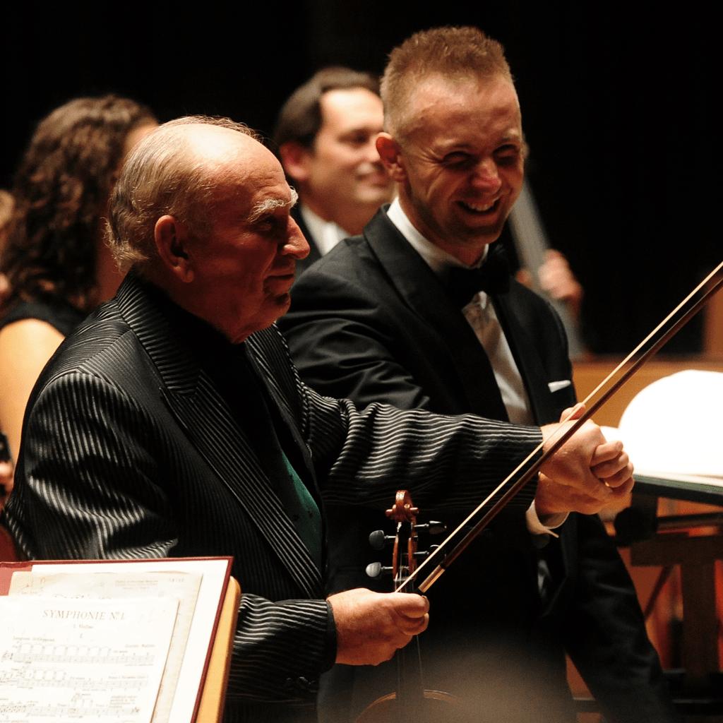Wojciech Rodek i Krzysztof Jakowicz podczas koncertu