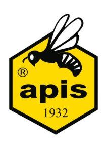 logo Apis - pszczoła na żółtym tle