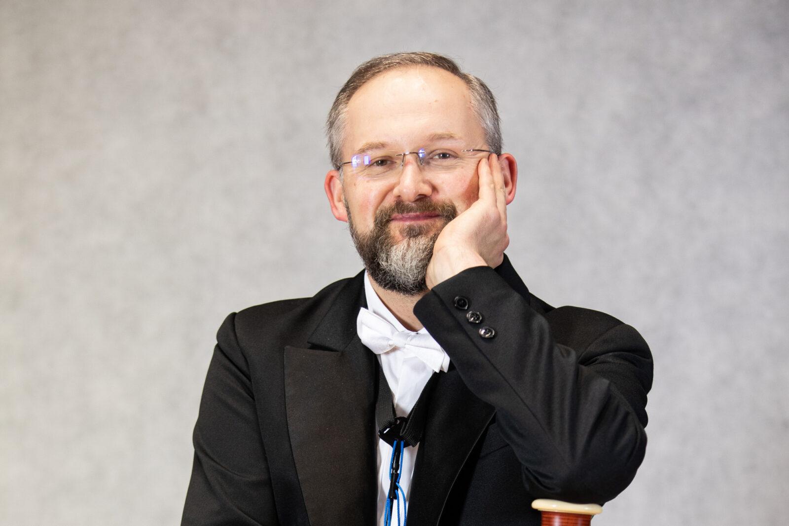 Zdjęcie Marka Moczulskiego z fagotem
