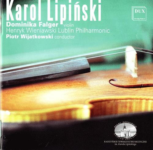 okłądka płyty z muzyką karola Lipińskiego, przedstawia skrzypce
