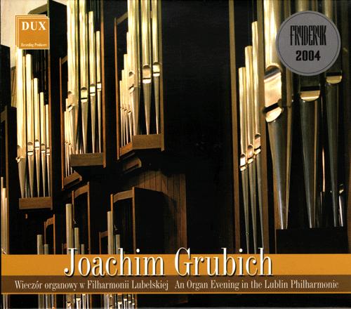 okłądka płyty, wieczór organowy w FL, przedstawia organy filharmonii lubelskiej