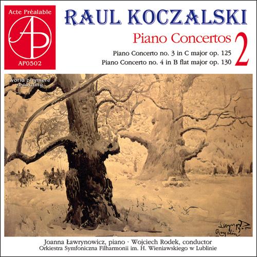 Okładka płyty Raul Koczalski, ośnieżone drzewa