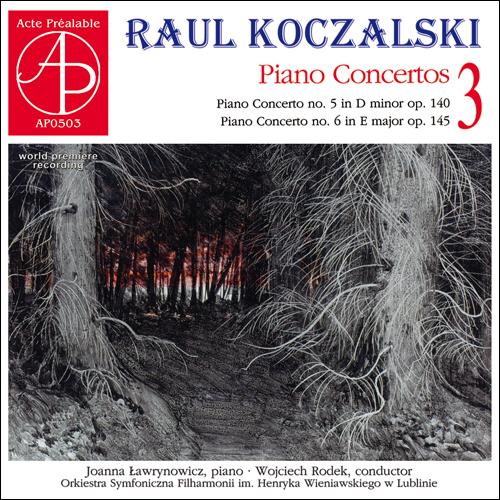 okładka płyty Raul koczalski, mroczny zimowy las