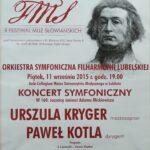 11.09.2015 Koncert symfoniczny