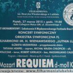 27.03.2015 Festiwal Braci Wieniawskich – Koncert symfoniczny