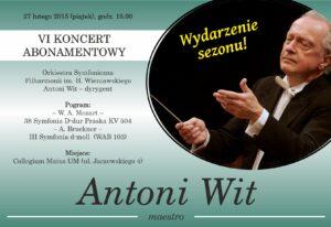 Plakat koncertowy, Antonii WIt 27.02.2015