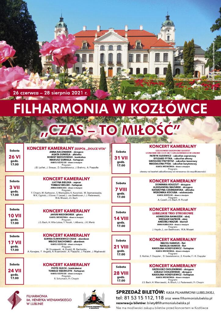 Afisz Filharmonia w Kozłówce
